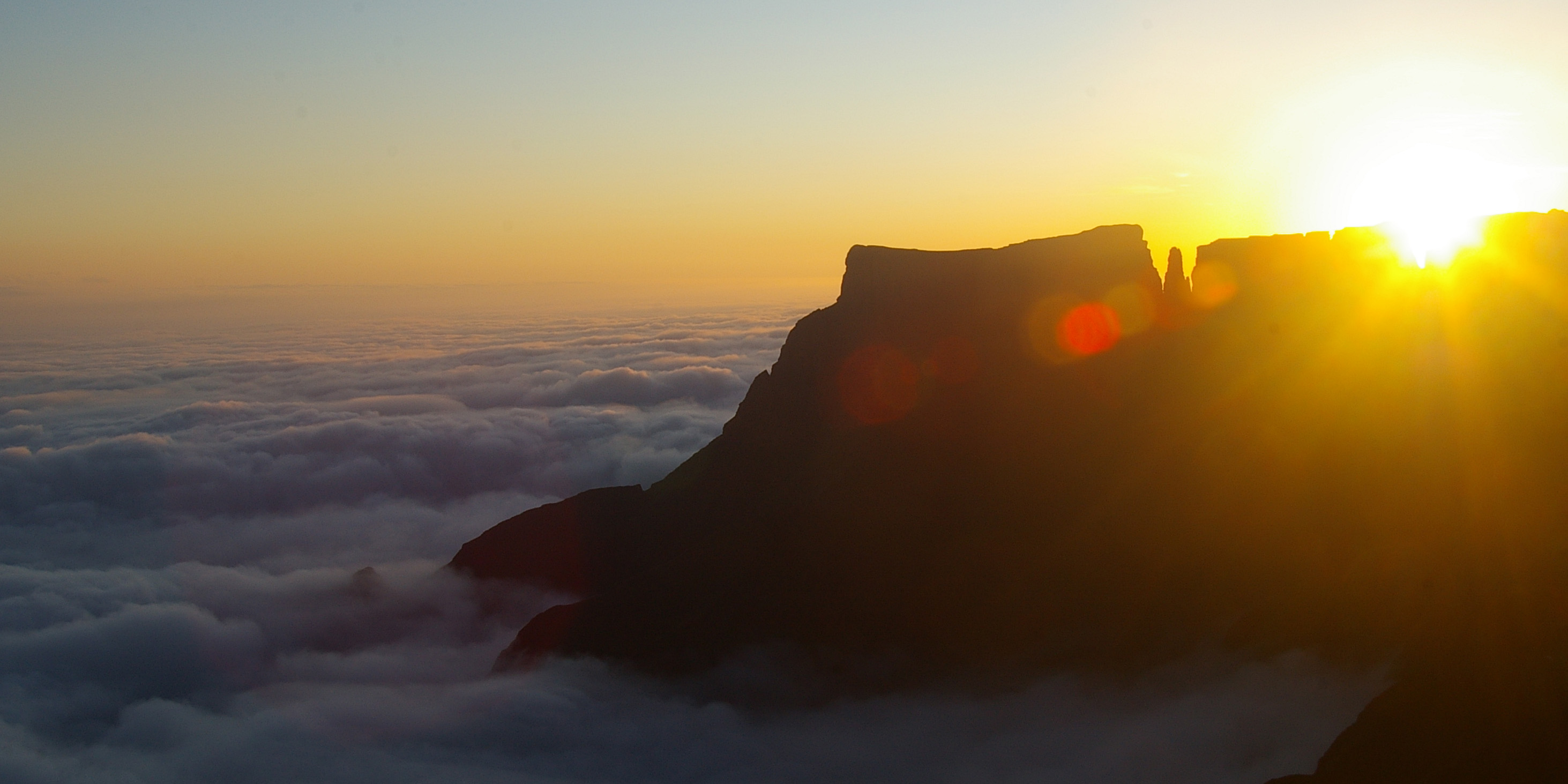 Sunrise over Devil's Tooth