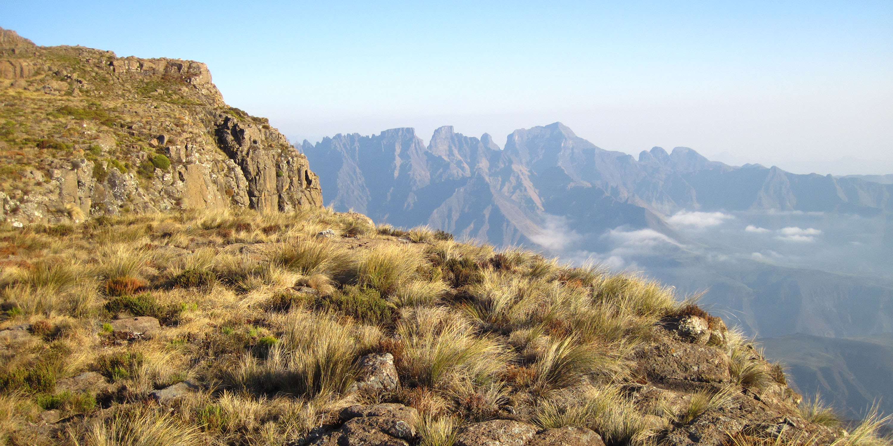 The View from Cleft Peak towards Cathedral Peak
