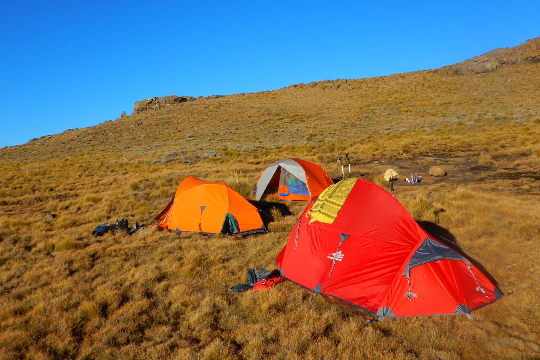 Camping on the Northern Traverse