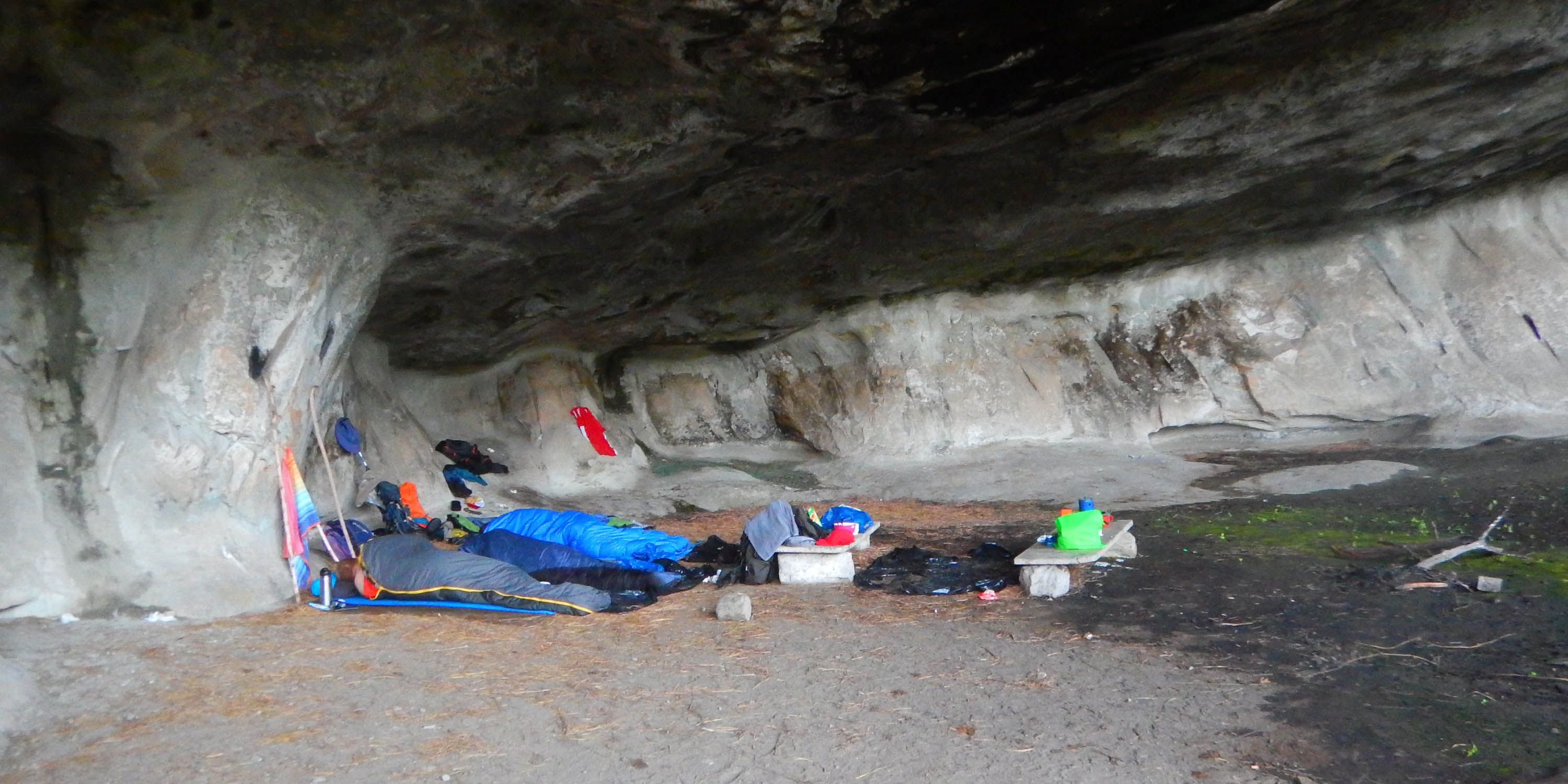 Xeni Cave large enough for 12 hikers